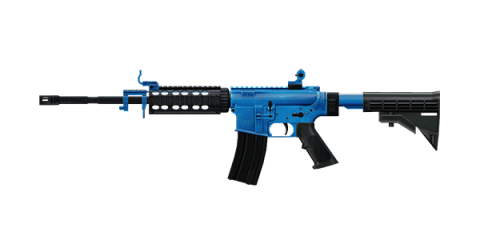 CAR-4 RIFLE | Royale Blue, Broken-In