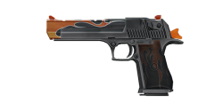 DEAGLE PISTOL   Flaming Deagle, Well-Used