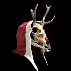 Rudolph Skull Mask