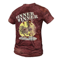 Skin: Hardcore Winner Winner Chicken Dinner Shirt
