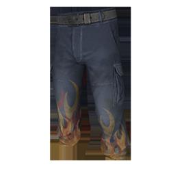 Skin: Flame Cargo Pants