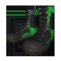 Skin: Green Splatter Boots