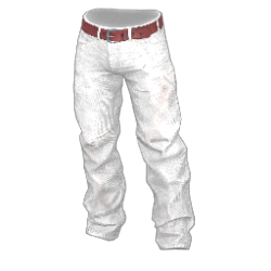 White Just Survive Baggy Pants
