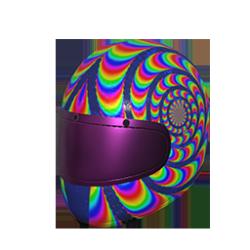 Skin: Rainbow Swirl Helmet