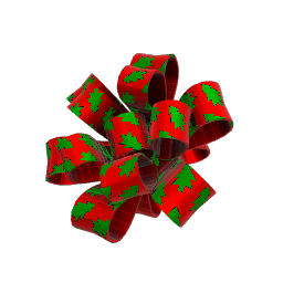 Seasonal Red and Green Party Bow