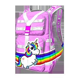 Rainbow Unicorn Military Backpack