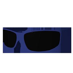 Blue Biker Shades