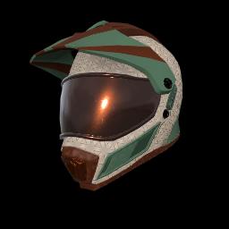 Mint Chocolate Motocross Helmet