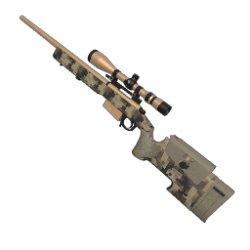 Tan Digital Camo Sniper Rifle