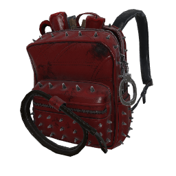 Vixen Red Military Backpack