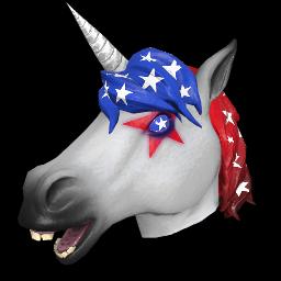 Patriotic Unicorn Mask