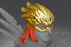 Inscribed Gilded Falcon Helm