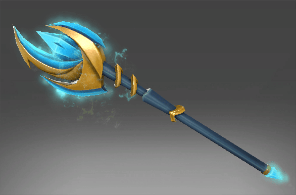 Inscribed Aethereal Crescent Wand
