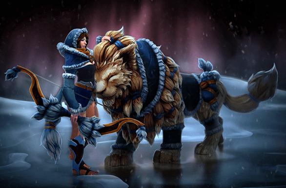 Inscribed Snowstorm Huntress