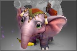 Inscribed Pachyderm Powderwagon Elephant