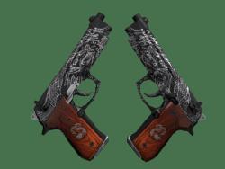 Dual Berettas   Dualing Dragons (Well-Worn)