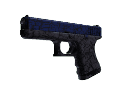Glock-18   Blue Fissure (Field-Tested)