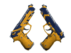 Dual Berettas | Marina (Field-Tested)