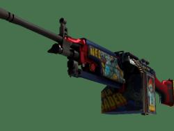 StatTrak™ M249   Nebula Crusader (Minimal Wear)