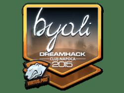 Sticker   byali (Foil)   Cluj-Napoca 2015