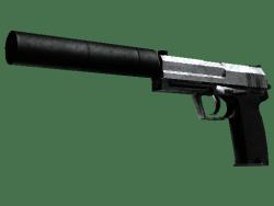 StatTrak™ USP-S | Stainless (Battle-Scarred)