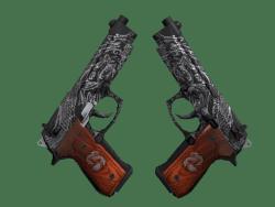 StatTrak™ Dual Berettas | Dualing Dragons (Minimal Wear)