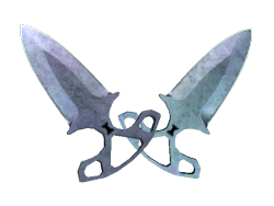 ★ Shadow Daggers | Blue Steel (Well-Worn)