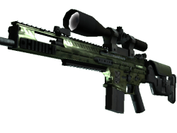 StatTrak™ SCAR-20 | Green Marine (Field-Tested)