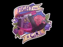Sticker   Fight like a Girl