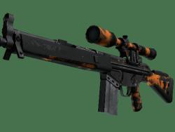 StatTrak™ G3SG1   Orange Crash (Battle-Scarred)
