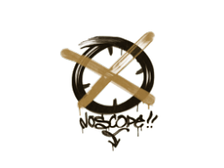 Sealed Graffiti | Noscope (Desert Amber)