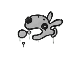 Sealed Graffiti | Popdog (Shark White)