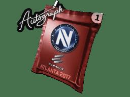 亲笔签名胶囊 | Team EnVyUs | 2017年亚特兰大锦标赛