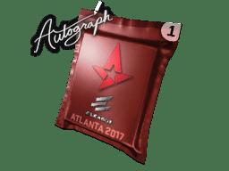 亲笔签名胶囊 | Astralis | 2017年亚特兰大锦标赛