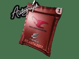 亲笔签名胶囊   mousesports   2017年亚特兰大锦标赛