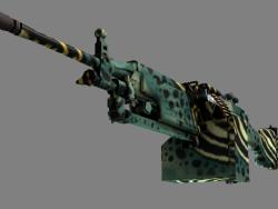 StatTrak™ M249 | Emerald Poison Dart (Minimal Wear)