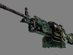M249 | Emerald Poison Dart (Well-Worn)
