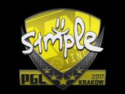 Sticker | s1mple | Krakow 2017