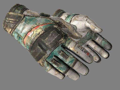 ★ Moto Gloves | Spearmint (Battle-Scarred)