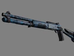 Souvenir XM1014 | VariCamo Blue (Well-Worn)
