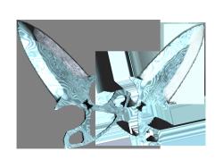 ★ StatTrak™ Shadow Daggers   Damascus Steel (Minimal Wear)