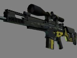 StatTrak™ SCAR-20   Jungle Slipstream (Battle-Scarred)