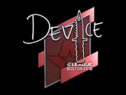 Sticker | device | Boston 2018