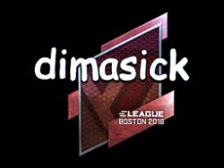 Sticker   dimasick (Foil)   Boston 2018