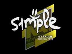 Sticker | s1mple | Boston 2018