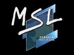 Sticker   MSL   Boston 2018