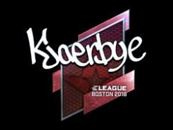 Sticker | Kjaerbye (Foil) | Boston 2018
