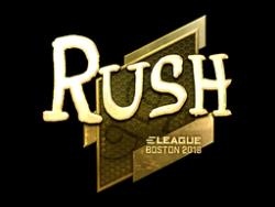 Sticker | RUSH (Gold) | Boston 2018