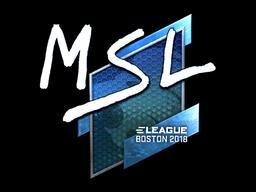 Sticker | MSL (Foil) | Boston 2018