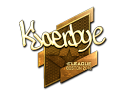 Sticker | Kjaerbye (Gold) | Boston 2018